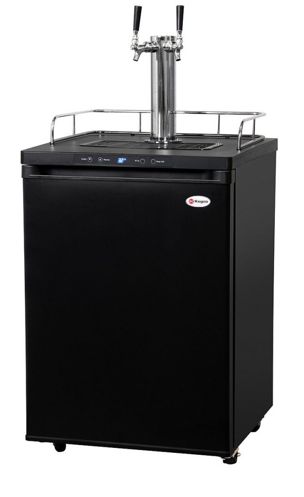 Kegco Dual Tap Freestanding Kegerator Beer Dispenser