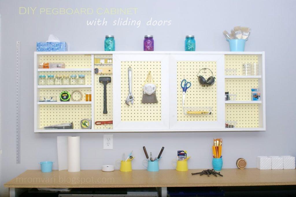 DIY Pegboard organizer