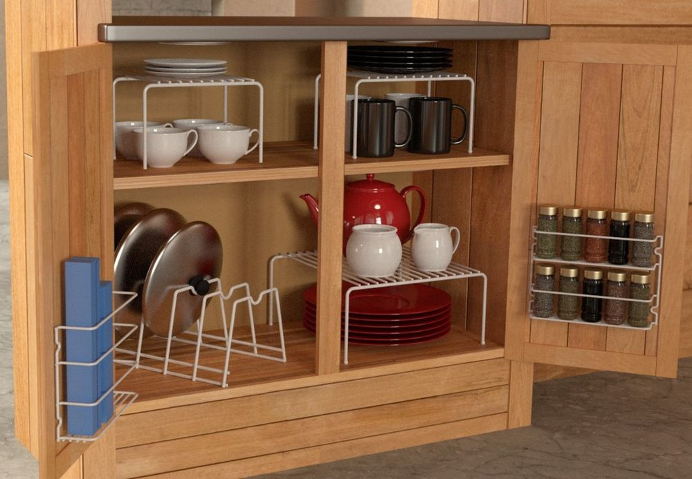 cabinets doors as storage for your spices