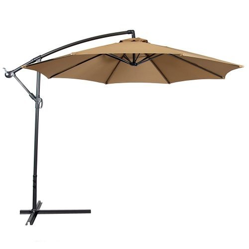 Best Choice Products Offset 10' Hanging Outdoor Market Patio Umbrella