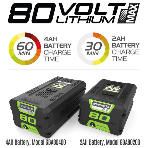 Greenworks PRO 20-Inch 80V Cordless Snow Thrower Battery