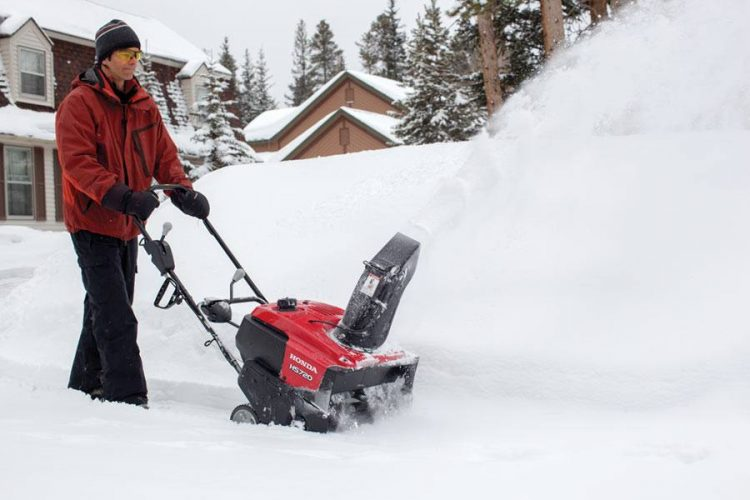 Honda Snow Blower in Action