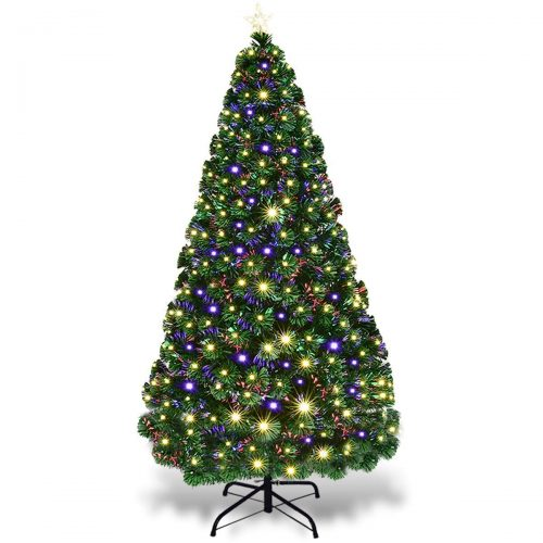 Goplus 7FT Artificial Optical Fiber Christmas Tree