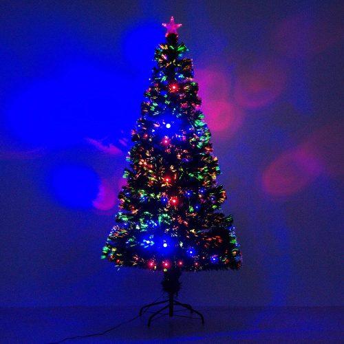 HOMCOM 6' Artificial Holiday Fiber Optic Christmas Tree