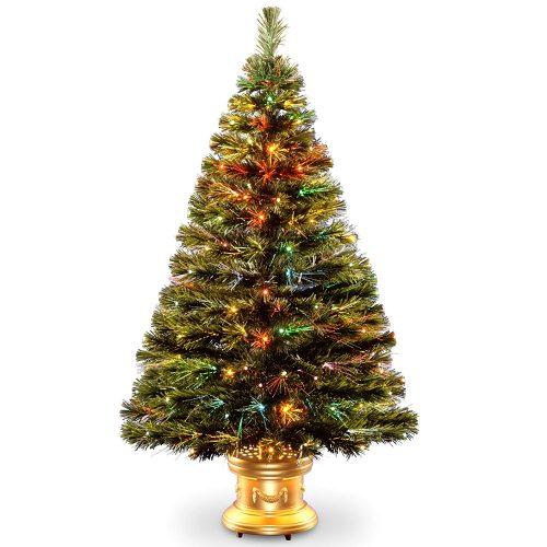 National Tree 48 Inch Tabletop Fiber Optic Christmas Tree