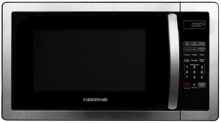 Farberware FMWO11AHTBKB Stainless Steel Microwave Oven