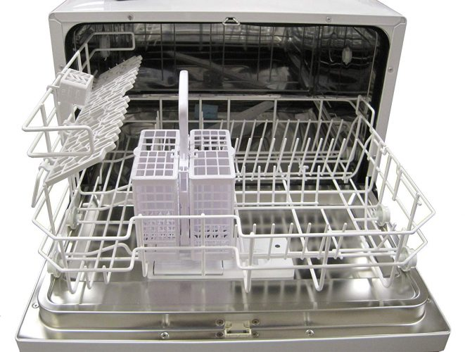 SPT Countertop Dishwasher Inside