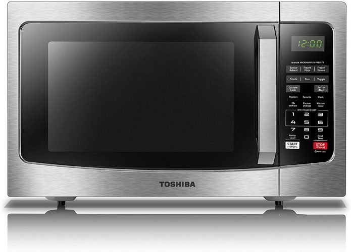 Toshiba EM131A5C-SS Countertop Microwave With Smart Sensor