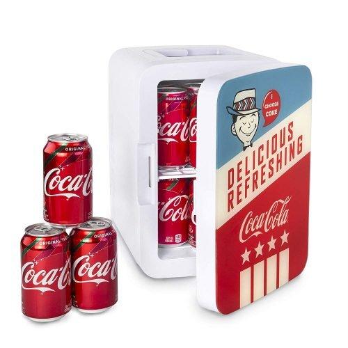 Cooluli K10LGA Mini Fridge Coca-Cola Americana Retro Cooler and Warmer
