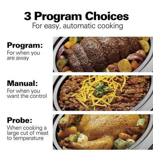 Hamilton Beach 6-Quart Slow Cooker Programs