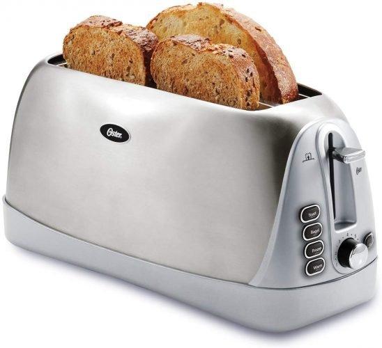 Oster Long Slot Stainless Steel 4-Slice Toaster