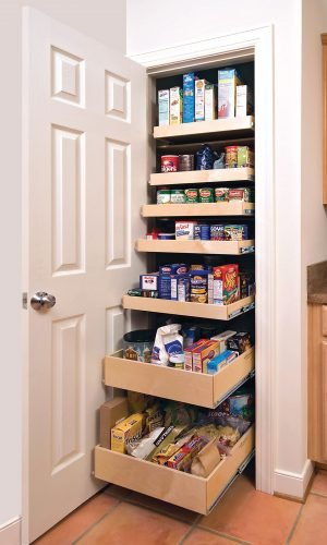 Roll out pantry shelf