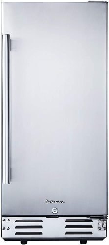 Kalamera 15 inch Stainless Steel Beverage Refrigerator